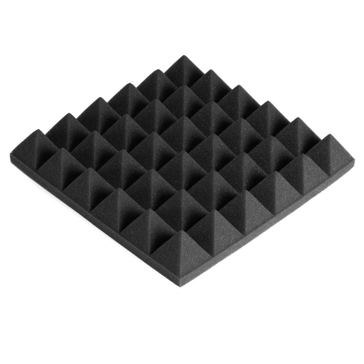 24Pcs 300x300x50mm 5 farben Schallschutz Schaum Studio Akustische Schaum Schalldichte Absorption Behandlung Panel Fliesen polyurethan Schaum
