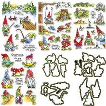 Штампы и штампы серии gnomes life прозрачные для рукоделия скрапбукинга