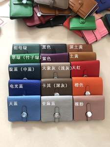 Image 3 - 9 Colors Genuine Leather Wallets Purses Fashion Small money bag luxury Mini  Coin Purse Hasp design purse