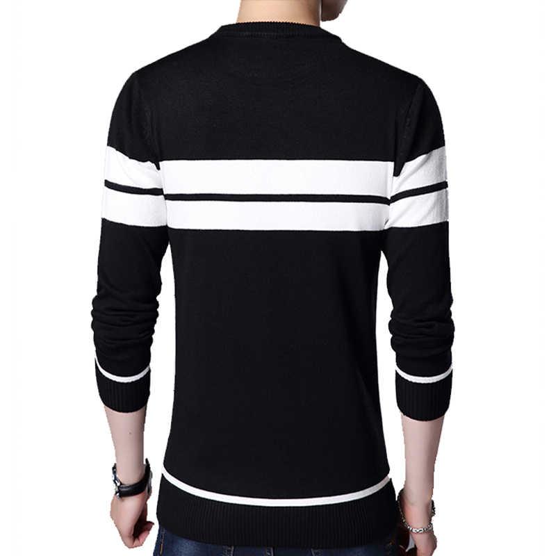 2020 브랜드 남성 풀오버 스웨터 남성 니트 저지 스트라이프 스웨터 남성 니트 의류 Sueter Hombre Camisa Masculina