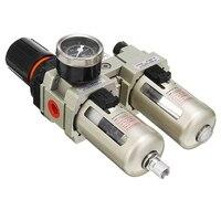 AC3010 03 3/8 Inch BSP Air Compressor Filter Water Separator With Regulator Mechanical Hardware Gauge Alloy Pneumatic Part