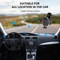 GTWIN Windshield Gravity Sucker Car Phone Holder For Phone Universal Mobile Support For iPhone Smartphone 360 Mount Stand in Car 5