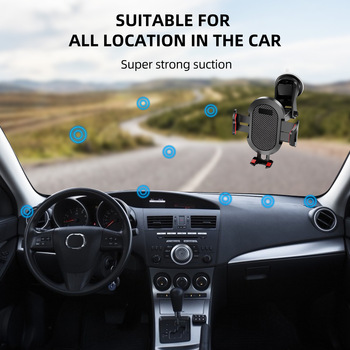 Windshield Gravity Sucker Car Phone Holder For Phone Universal Mobile Support For iPhone Smartphone 360 Mount Stand in Car 5