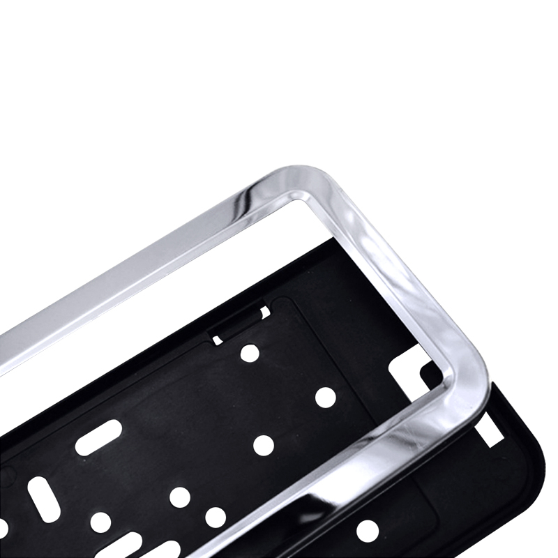 lowest price SPEEDWOW 1pcs License Plate Frame Plastic Car License Plate Frame Number Plate Holder With 4 Screws