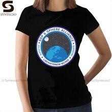 Camiseta de Alien con Logo Retro para mujer, Camiseta básica oscura, camiseta de moda urbana con cuello redondo, Camiseta de algodón para mujer