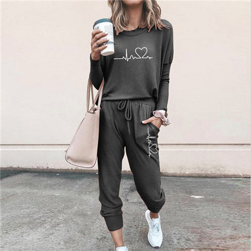 Women Tracksuit Pullovers Hoodies and Black Pants Autumn Winter Suit Female Solid Color Casual Full Length Trousers Outfits 2021 26