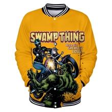 Swamp monster 3D Print Baseball  Outerwear Bomber Jacket Male Men/Women Hoodies Sweatshirts Hip Hop Clothing