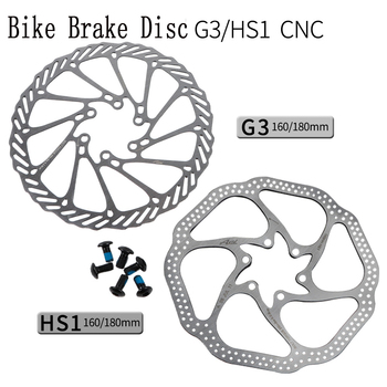 G3 HSI Bicycle Brake Disc Brake Block Lining Rotors Mtb Bike CNC Disc 160/180mm With 6Bolts Six nails System Disc Bike Parts image