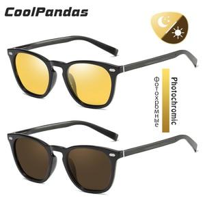 Image 2 - CoolPandas 2020 Retro Frauen Cat Eye Sonnenbrille Photochrome Polarisierte Männer Sonnenbrille Tag Nacht Vision Oculos gafas de sol mujer