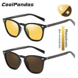 Image 2 - CoolPandas 2020 Retro Women Cat Eye Sunglasses Photochromic Polarized Men Sun Glasses Day Night Vision Oculos gafas de sol mujer