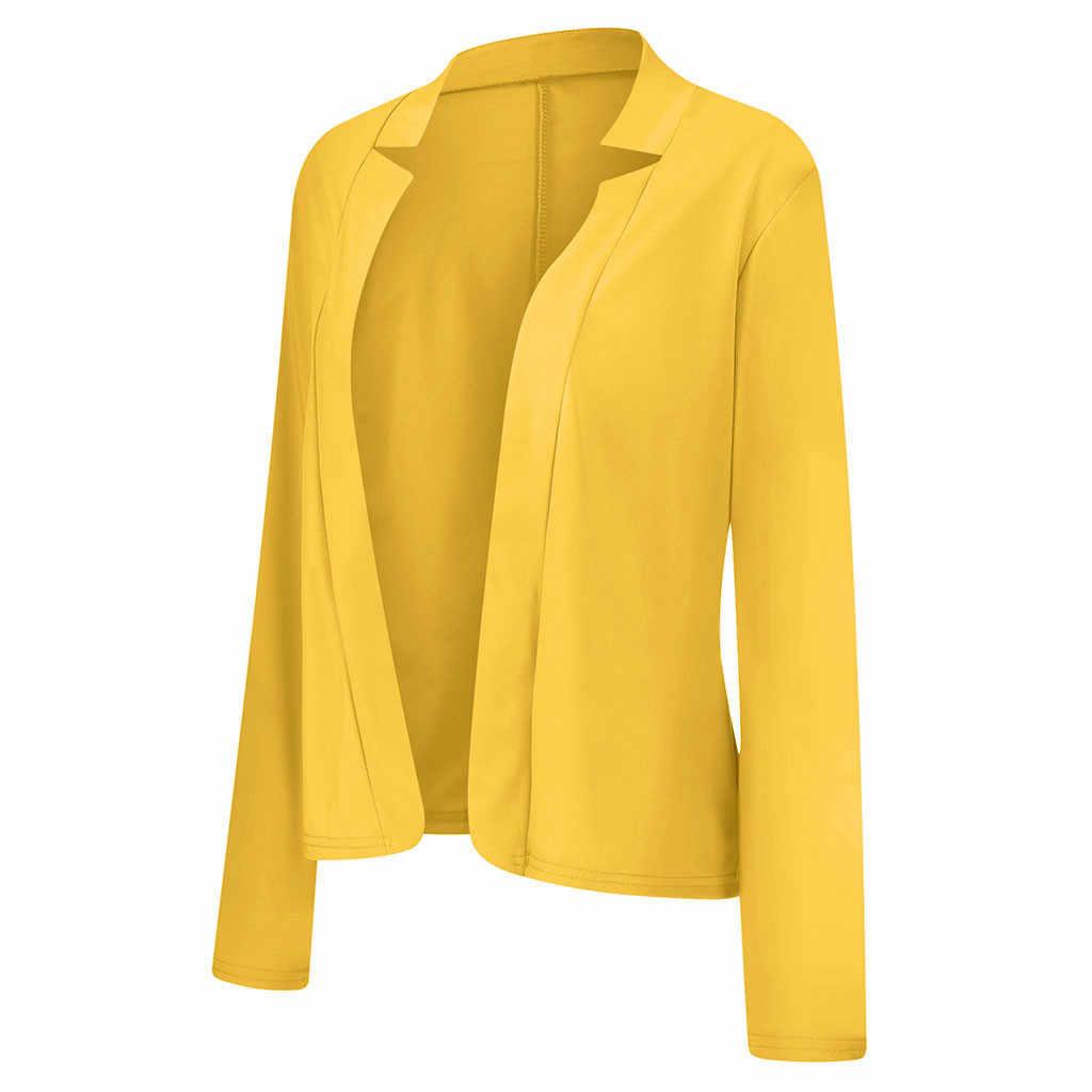 Vrouwen Lente Herfst Mode Blazer Plus Size Lange Mouwen Vest Mujer Casual Mooie Vrouwen Past Bloem Uitloper Kantoor Jas