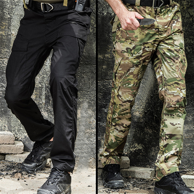 Outdoor Military Tactical Special Training Unisex Pants Waterproof Wear Resistant Breathable Mountaineering Big Pocket Trousers