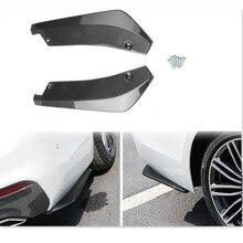 2 pçs universal amortecedor traseiro do carro de fibra carbono lábio para abarth 124 aranha 500 595 695 500c 595c 695c grande punto punto evo