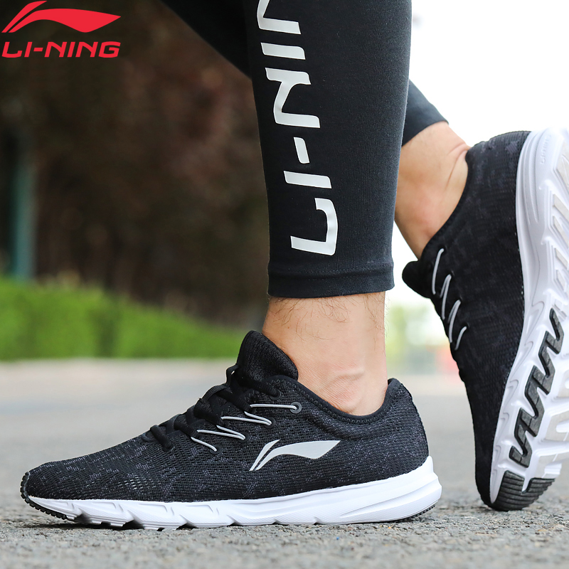 Li-Ning Men EZ RUN Running Shoes Breathable Wearable LiNing Li Ning Light Weight Sport Shoes Comfort Sneakers ARBN021 XYP655