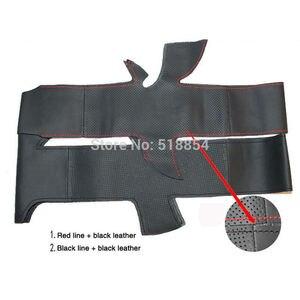 Image 5 - ฝาครอบพวงมาลัยรถหนังแท้สีดำสำหรับ Honda Civic Old Civic 2006 2011