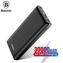 Baseus, большая емкость, 30000 мА/ч, Дополнительный внешний аккумулятор для мобильного телефона, быстрая зарядка, 3,0 Тип C, зарядное устройство для телефона для iPhone, samsung