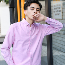 High Quality Cotton MenS Shirts Autumn And Winter Business Casual Oxford Washed Comfortable Breathable Shirt Male