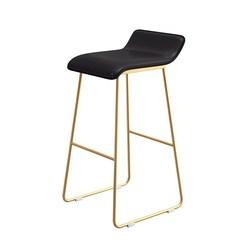 Nordic stołek barowy z kutego żelaza kreatywne proste krzesło barowe cafe złoty stołek barowy z przodu wysoki stołek na