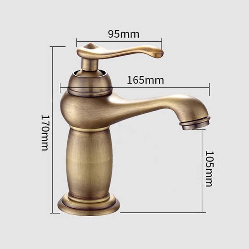 Robinet salle de bain torneira da bacia de lavagem do banheiro bronze antigo deck montado torneiras misturadoras água quente e fria retro ferragem