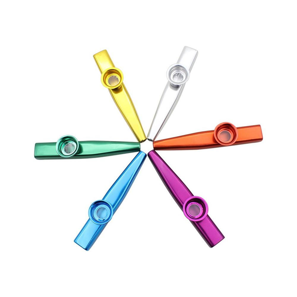Metal Kazoos Musical Instruments Flutes Diaphragm Mouth Kazoos Musical Instruments Good Companion for Guitar