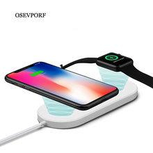 2 in 1 Qi Wireless Charger For Apple Watch 4 3 2 1  Fast Wireless Charging Pad For iPhone Xs Max X 7 8 11 2019 Samsung S10 laurel burch lb4101 medium tote zipper top 12 in x 3 1 2 in x 8 1 2 in tres gatos blue gold