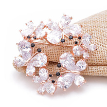 CINDY XIANG 9 Styes For Choose Cubic Zirconia  Butterfly Flower Brooch Brass Luxury Insect Pin Snowflake Brooches For Women Gift
