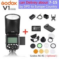 Godox V1 V1S/V1N/V1C TTL Li ion Round Head Camera Speedlight Flash For Sony/Nikon/Canon, Godox V1 Flash for Fujifilm/Olympus