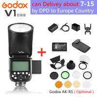Godox V1 V1S/V1N/V1C/V1O/V1F TTL Li-Ion cabeza redonda Flash de cámara Flash para Nikon/Sony/Canon/Fujifilm/Olympus Godox V1 Flash