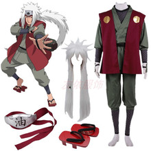 Anime Naruto Jiraiya Cosplay Costume Whole Set Halloween