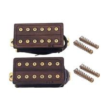 Rosewood Golden Screws Neck Bridge 50 and 52Mm Electric Guitar Humbucker Pickups