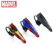 Marvel's Avengers 4 Captain America EBT945 Bluetooth Headset Iron Man Unilateral Sports Earplug
