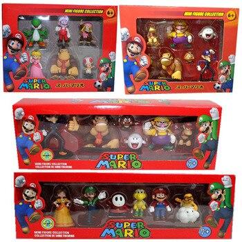 Conjunto de 6 figuras de acción de Super Mario Bros, muñecos de...