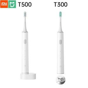 Image 1 - Xiaomi mijia mi escova de dentes elétrica original t500 t300 lembrete de sobrepressão modo de limpeza de dentes personalizado de alta frequência