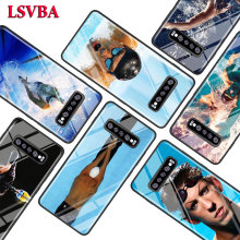 Michael Phelps Swimming for Samsung Galaxy Note 10 9 8 Pro S10e S10 5G S9 S8 S7 Plus Super Bright Glossy Phone Case Cover
