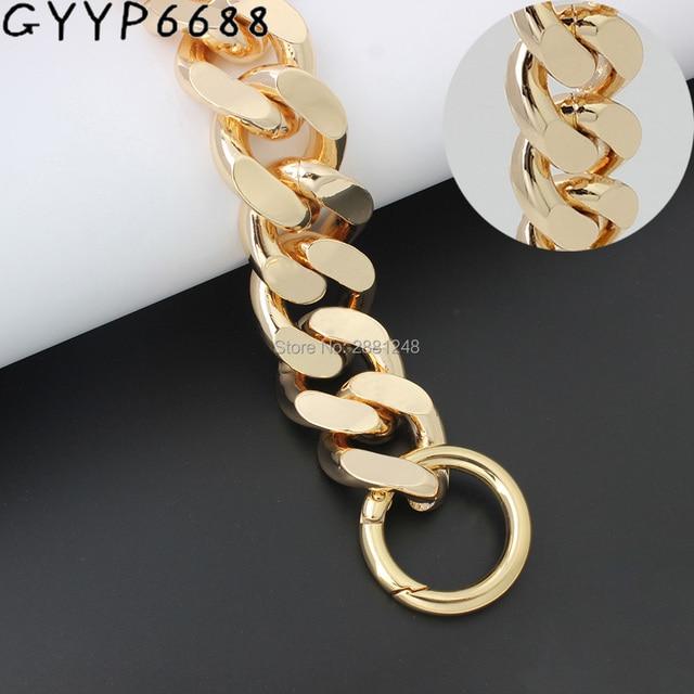 30mm 1-5pcs gold thick Aluminum chain bag Light weight bags strap bag parts DIY handles Accessory Handbag Straps Bag