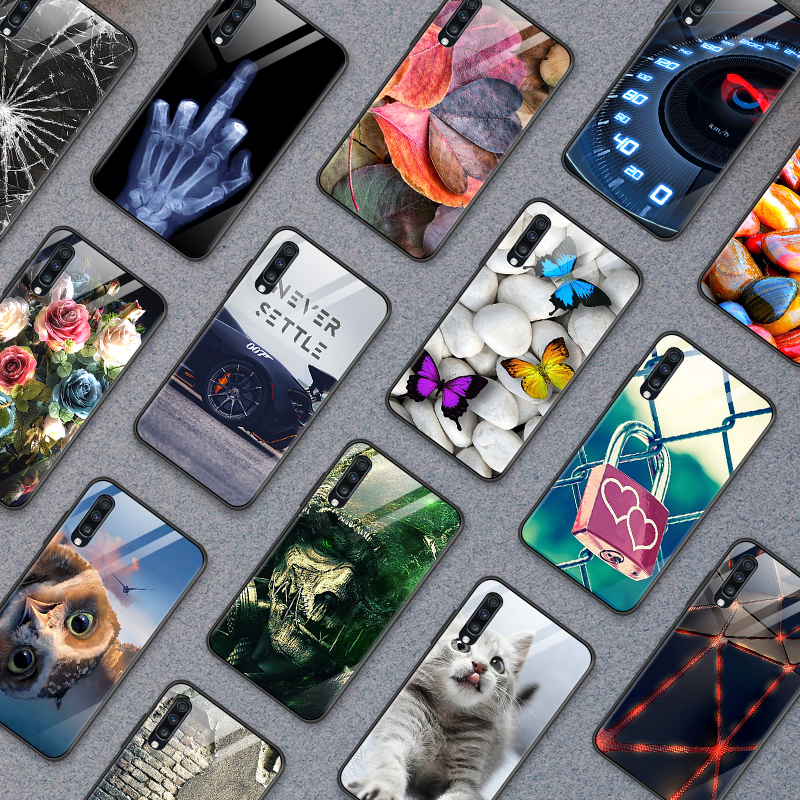 for <font><b>Samsung</b></font> Galaxy A10 A20 A30 <font><b>A40</b></font> A50 A70 A80 A90 A6S A8S Tempered <font><b>Glass</b></font> Cover J4Plus M10 M20 M30 Note9 Shockproof Phone <font><b>Case</b></font> image