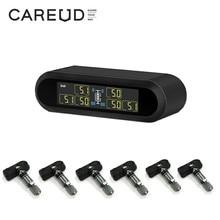 CAREUD-sistema de supervisión de presión de neumáticos inalámbrico, sistema de supervisión de presión de neumáticos con 6 sensores internos externos, máx. 116 PSI, T650