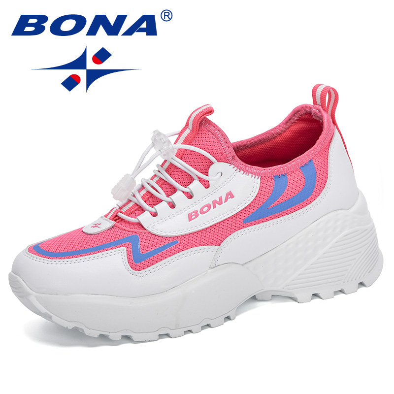 BONA 2020 New Designers Outdoor Trendy Sneakers Woman Mesh Casual Shoes Ladies Shoes Fashion Leisure Footwear Female Comfortable