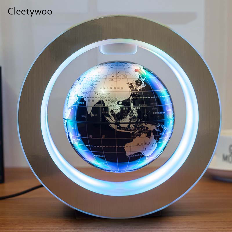 Novelty Gifts LED Floating Globe Magnetic Levitation Light Round Antigravity Balls For Kids 2020 Christmas Gifts World Map Lamps