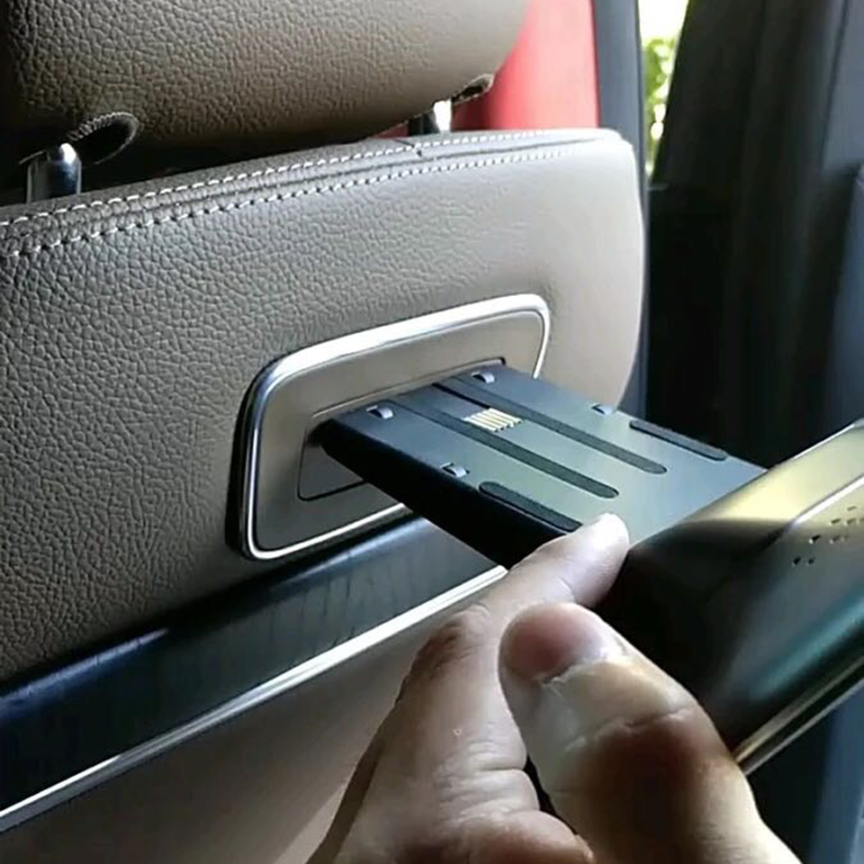 Nouveaux articles 2020 électronique Android 9.0 système voiture appuie-tête avec moniteur pour Mercedes GLC 300 siège arrière divertissement écrans de télévision