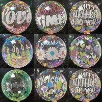 Globo transparente de globo transparente de 20 pulgadas, globo de helio con estampado de amor de Palma, fiesta de cumpleaños decoración para, Baby Shower y boda