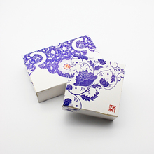 10PCS Gift Box Wedding Candy Cookie Cupcake Paper Packaging Porcelain Pattern Cardboard Boxes Party Favor