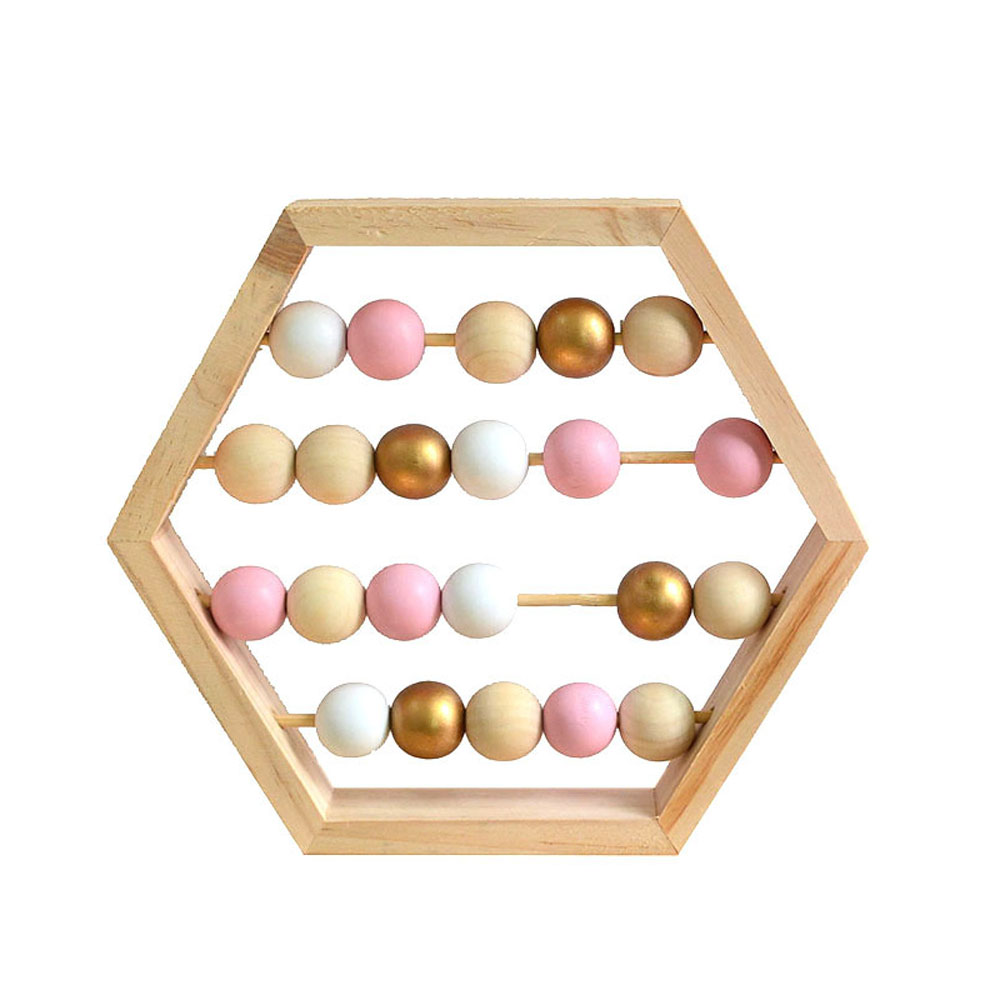 Craft Baby Early Learning Educational Toys Scandinavian Style Baby Room Decor New Nordic Style Natural Wooden Abacus With Beads