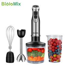 Blender-Mixer Chopper Hand-Stick Smoothie-Cup Stainless-Steel Biolomix Immersion High-Power