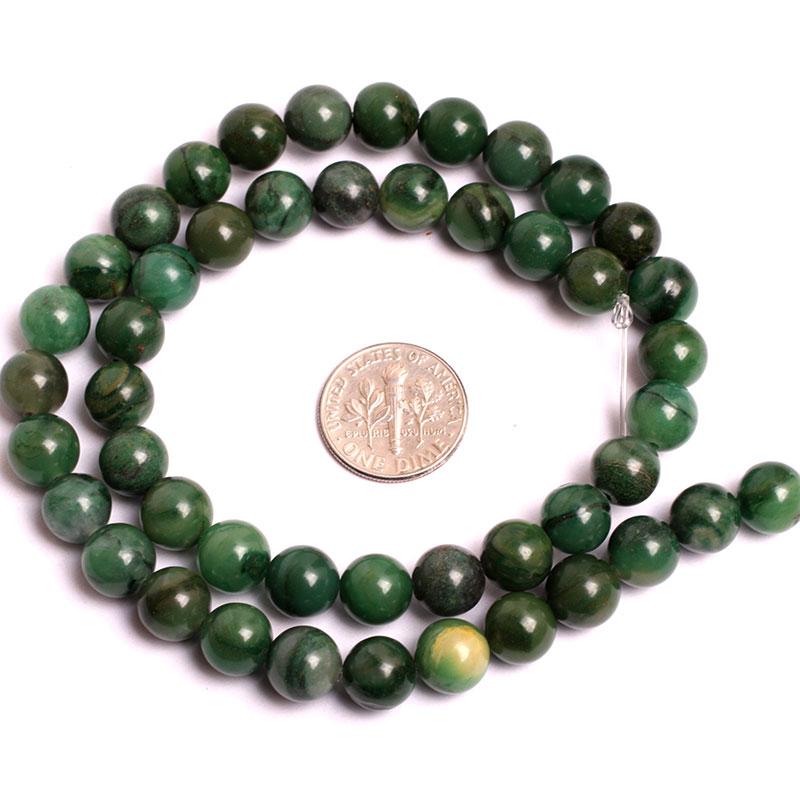 6 mm 8 mm 10 mm Jades africanos verdes (jadeíta) Cuentas de cuentas - Bisutería - foto 3