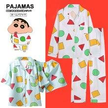 Hrajuku japonês pijamas pijamas de algodão feminino pijamas de manga curta homewear anime nightgown festa