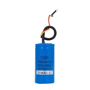 Image 5 - CD60 150 فائق التوهج 250 فولت التيار المتناوب بدء مكثف للمحرك الكهربائي الثقيلة ضاغط الهواء الأحمر الأصفر سلكين