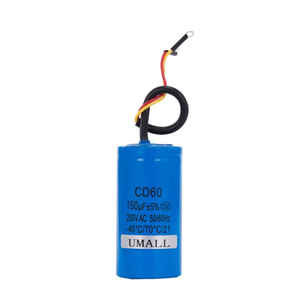 Image 5 - CD60 150UF 250V AC החל קבלים עבור כבד החובה חשמלי מנוע אוויר מדחס אדום צהוב שני חוטים