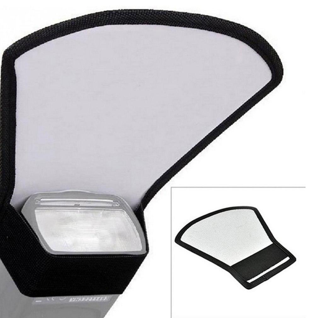 Universal DSLR Camera Flash Speedlite Diffuser Silver White Reflector Board Softbox Soft Light For Photo Taking