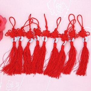 Новый год китайский красный узел бахрома Китайский Искусство и ремесла Пластиковые нефритовые кисточки украшения кулон подарок домашний д...